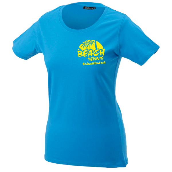 LADIES Basic T - aqua